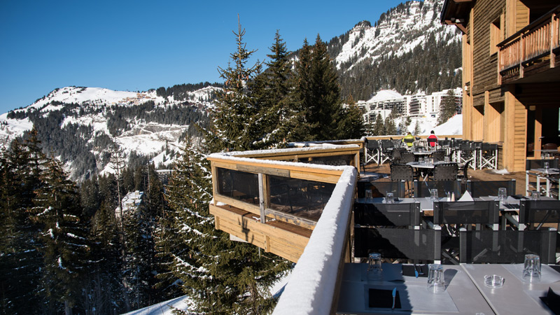 Hôtel Lapiaz - Terrasse vue montagne